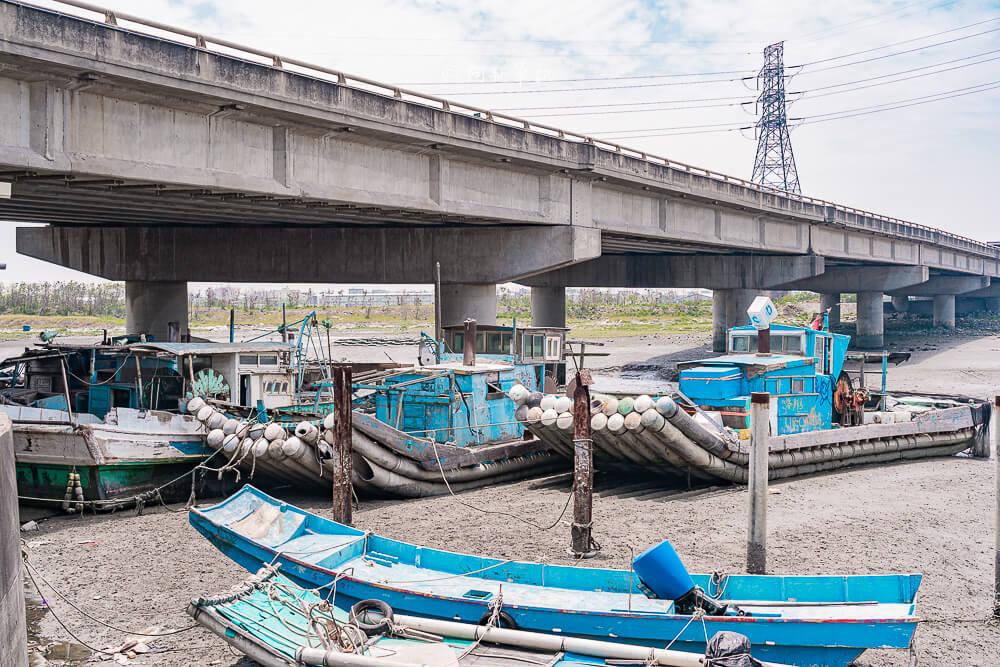 線西漁港,塭仔漁港,線西橋下,彰化漁港,線西景點,彰化景點