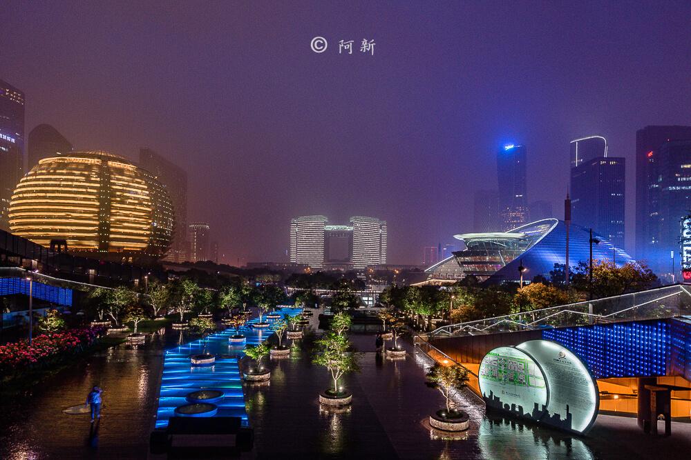 杭州錢江新城燈光秀-02