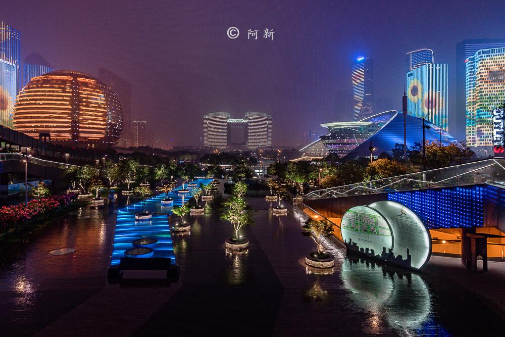杭州錢江新城燈光秀-03