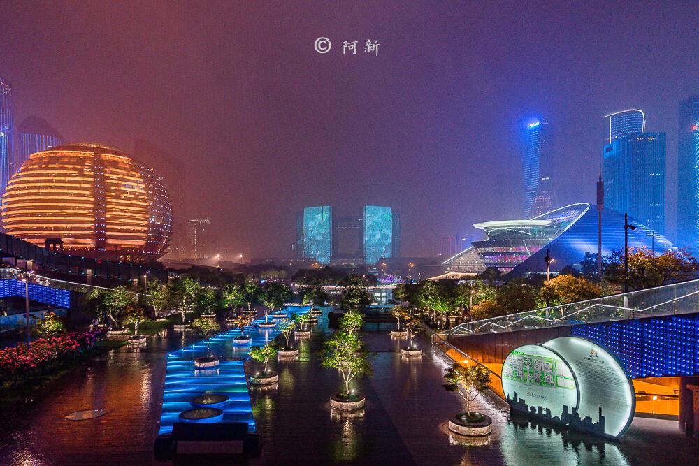 杭州錢江新城燈光秀-07