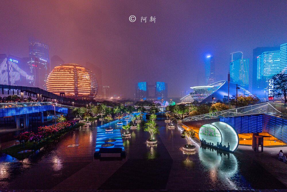 杭州錢江新城燈光秀-10