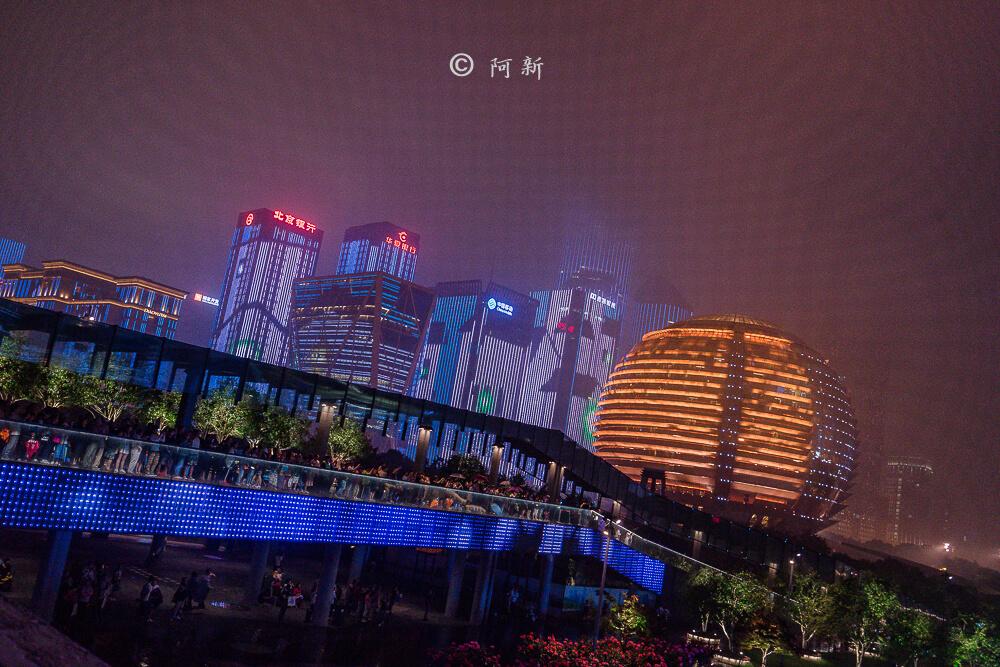 杭州錢江新城燈光秀-15