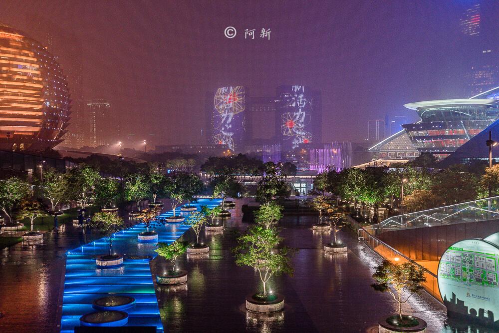 杭州錢江新城燈光秀-19