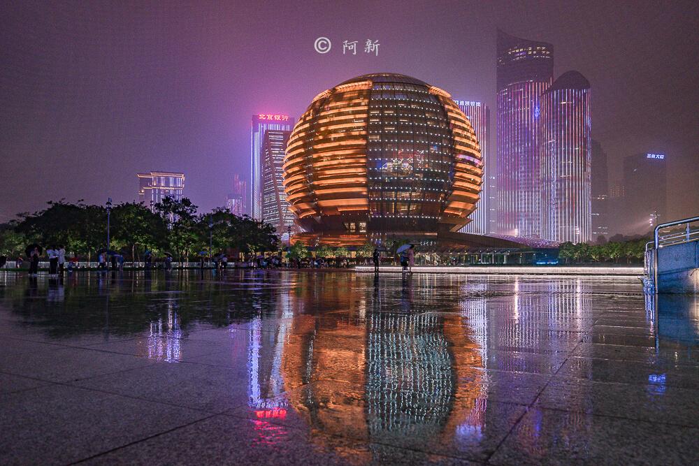 杭州錢江新城燈光秀-29
