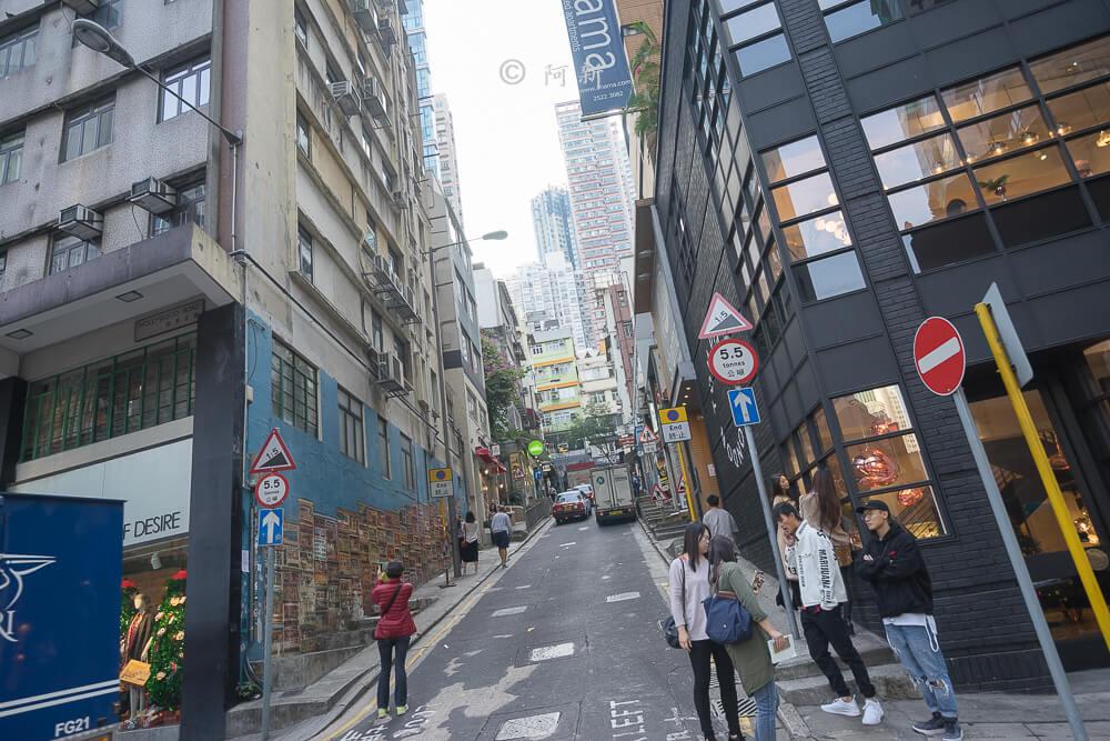 香港中環嘉咸街,中環嘉咸街,中環嘉咸街壁畫,嘉咸街壁畫,中環景點,香港-02