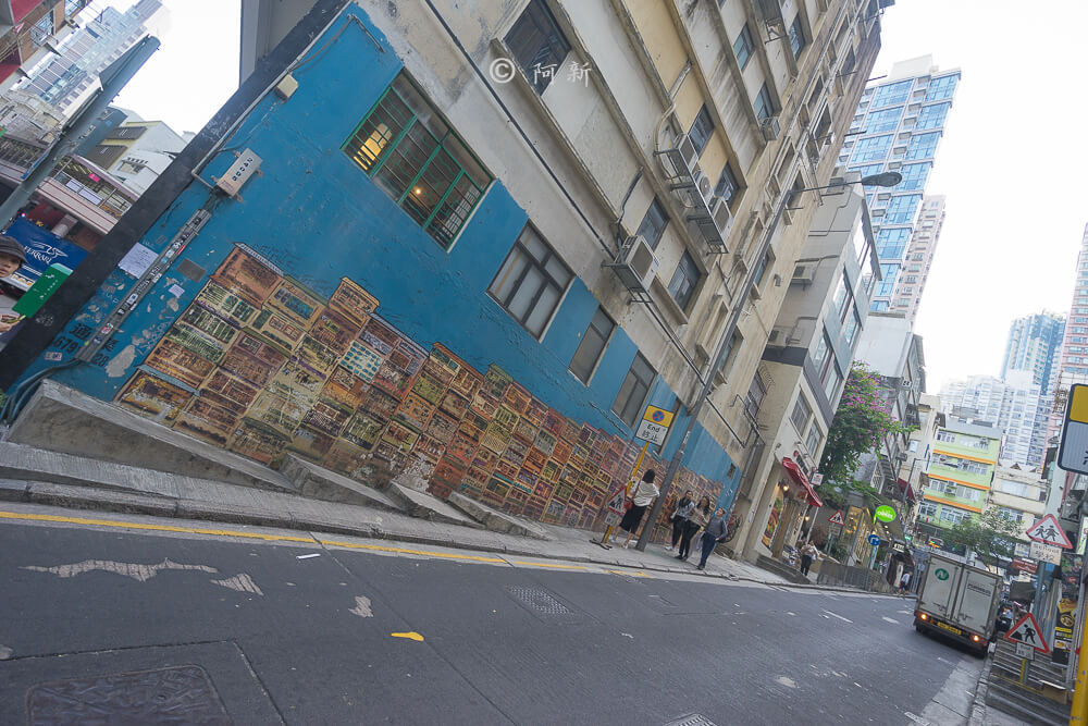 香港中環嘉咸街,中環嘉咸街,中環嘉咸街壁畫,嘉咸街壁畫,中環景點,香港-03