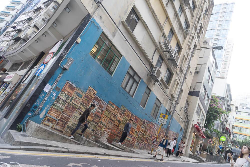 香港中環嘉咸街,中環嘉咸街,中環嘉咸街壁畫,嘉咸街壁畫,中環景點,香港-09
