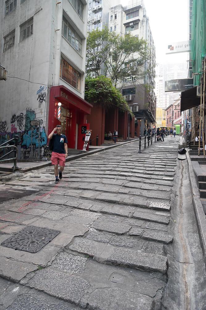 香港中環砵典乍街,中環石板路,石板路,砵典乍街,中環景點,香港-03