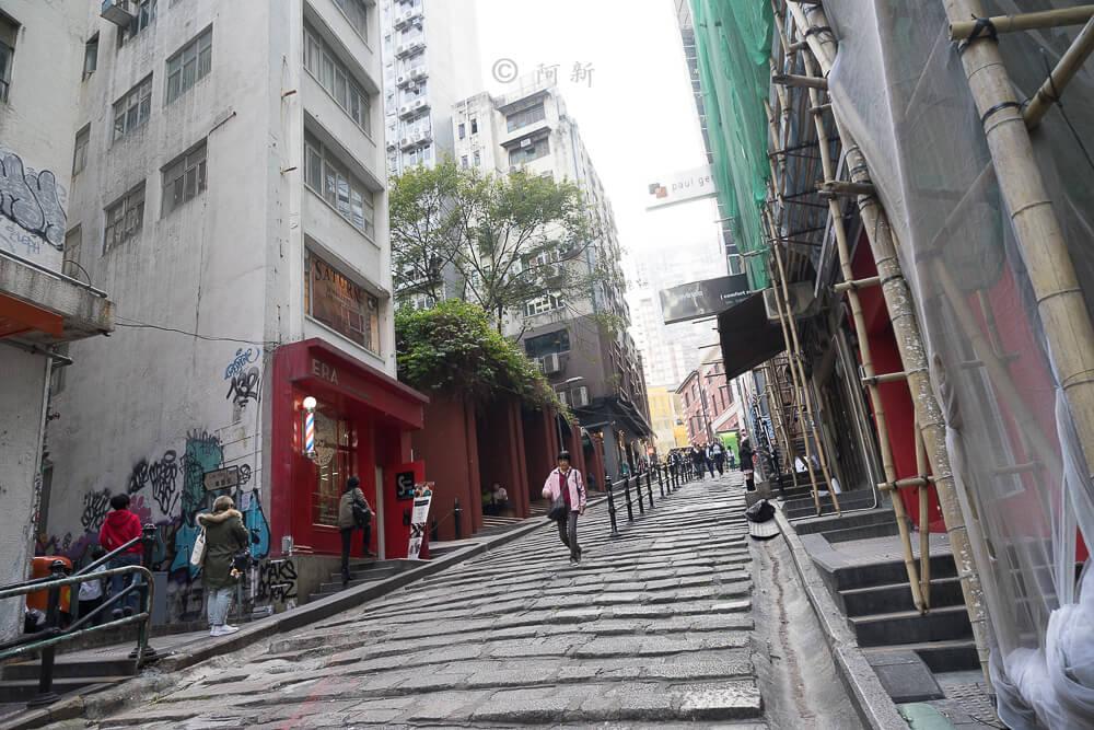 香港中環砵典乍街,中環石板路,石板路,砵典乍街,中環景點,香港-04