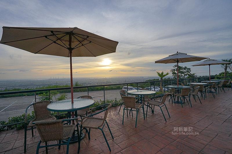 DSC03525 - 【熱血採訪】望景咖啡|台中夜景咖啡館,從夕陽看到夜景,室內、戶外座位多又寬廣,餐點多又豐富,推薦情侶、聯誼活動阿~