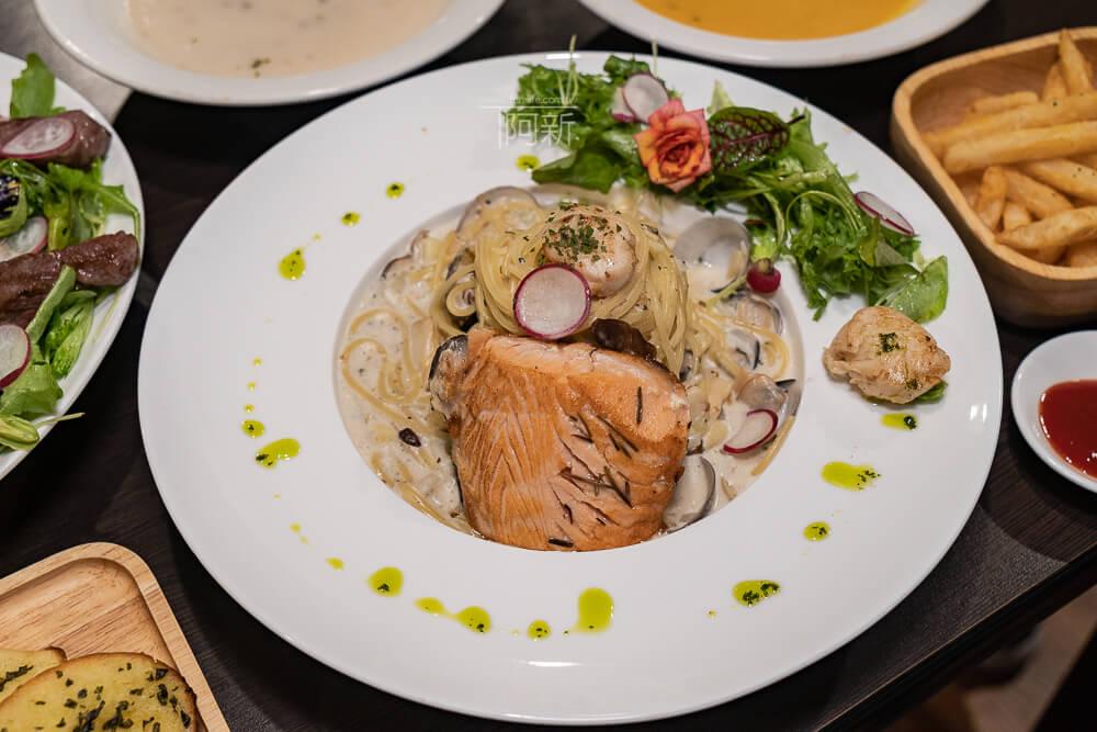 DSC09293 - 熱血採訪│台中科博館餐高沐手作料理餐廳新菜單來啦!鮭魚、菲力牛一次雙重奏,美味又滿足