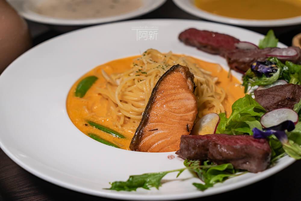 DSC09334 - 熱血採訪│台中科博館餐高沐手作料理餐廳新菜單來啦!鮭魚、菲力牛一次雙重奏,美味又滿足