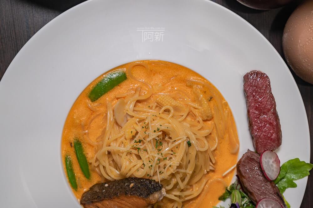 DSC09336 - 熱血採訪│台中科博館餐高沐手作料理餐廳新菜單來啦!鮭魚、菲力牛一次雙重奏,美味又滿足