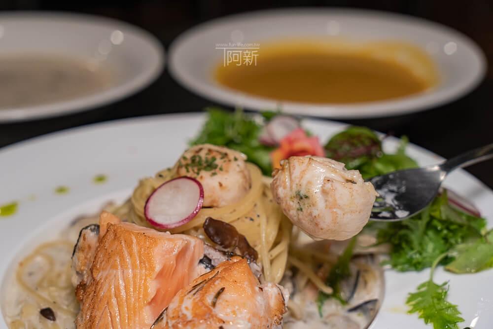 DSC09405 - 熱血採訪│台中科博館餐高沐手作料理餐廳新菜單來啦!鮭魚、菲力牛一次雙重奏,美味又滿足