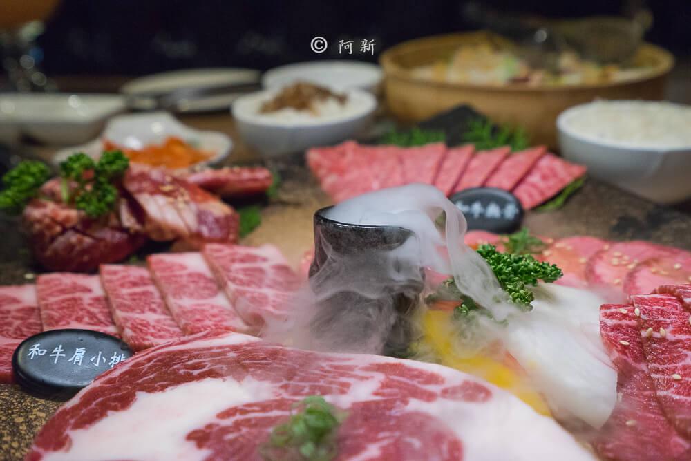 DSC03958 - 熱血採訪│雲火日式燒肉,整個牛肉盤份量好驚人啊!冒著白煙就很華麗,好適合約會慶祝!