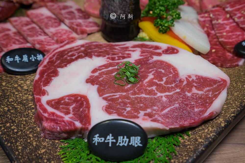 DSC04000 - 熱血採訪│雲火日式燒肉,整個牛肉盤份量好驚人啊!冒著白煙就很華麗,好適合約會慶祝!
