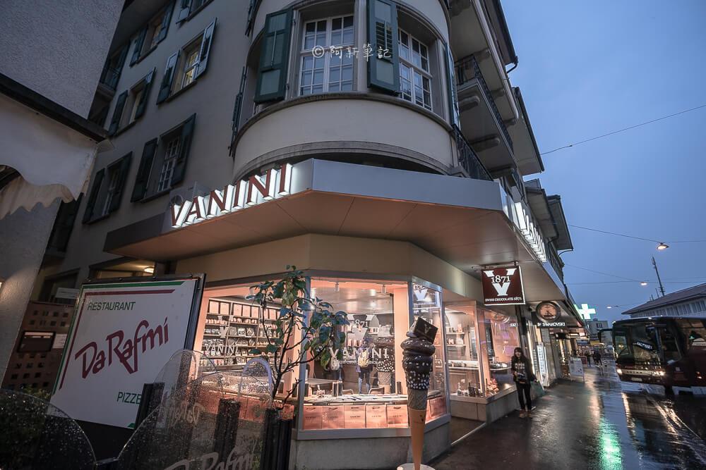 Vanini Swiss Chocolate 1871,Vanini Swiss Chocolate,Vanini Chocolate,Interlaken Vanini,茵特拉肯 巧克力,茵特拉肯甜點店