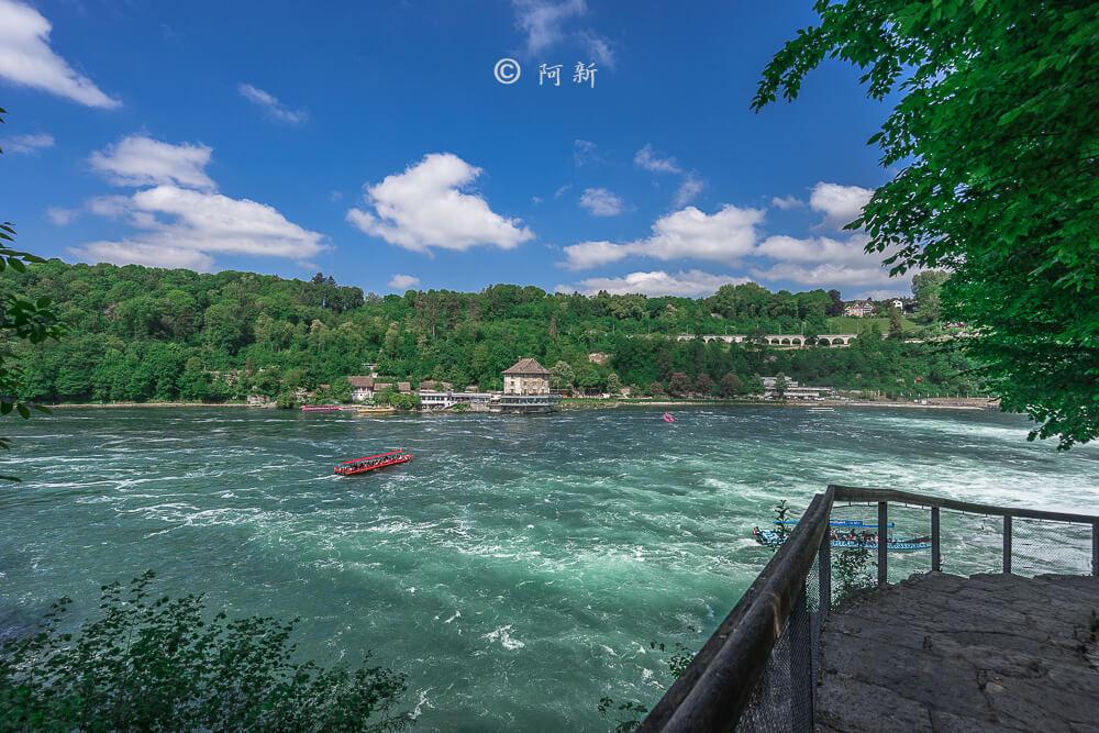 瑞士萊茵瀑布,萊茵瀑布,歐洲最大瀑布,瑞士旅遊,瑞士-07