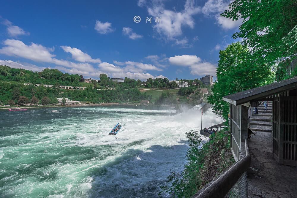 瑞士萊茵瀑布,萊茵瀑布,歐洲最大瀑布,瑞士旅遊,瑞士-09