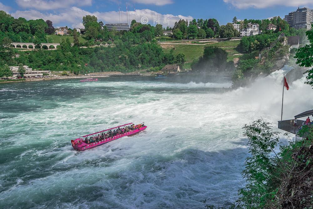 瑞士萊茵瀑布,萊茵瀑布,歐洲最大瀑布,瑞士旅遊,瑞士-12