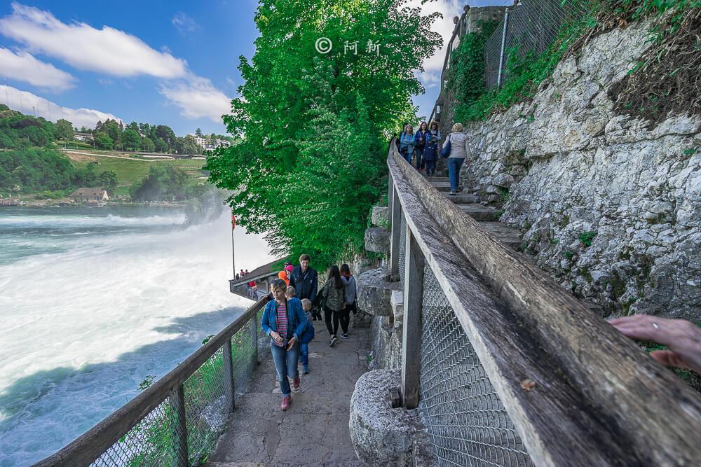 瑞士萊茵瀑布,萊茵瀑布,歐洲最大瀑布,瑞士旅遊,瑞士-13