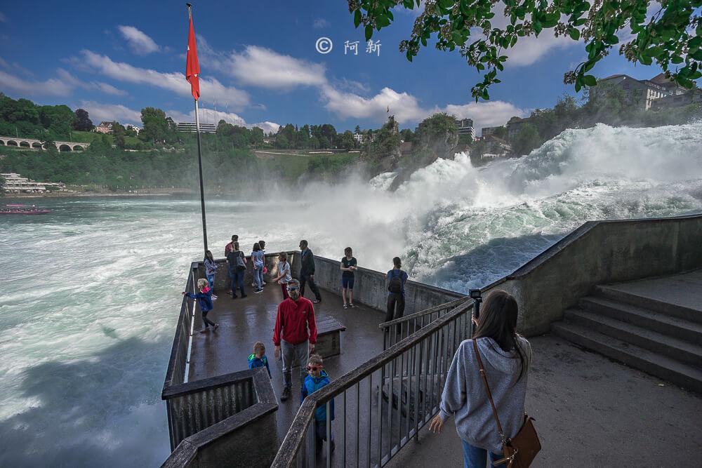 瑞士萊茵瀑布,萊茵瀑布,歐洲最大瀑布,瑞士旅遊,瑞士-15