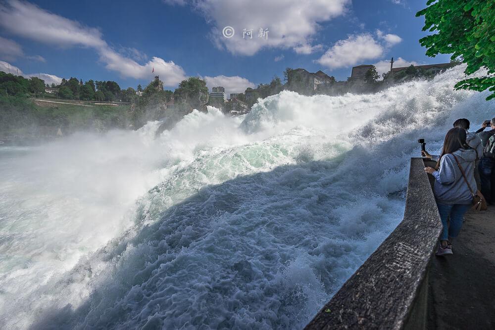 瑞士萊茵瀑布,萊茵瀑布,歐洲最大瀑布,瑞士旅遊,瑞士-16