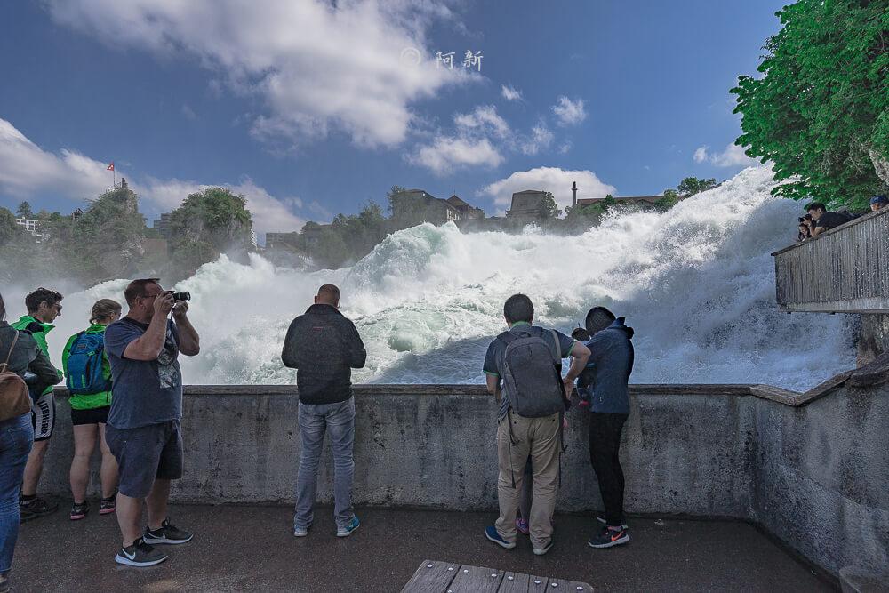 瑞士萊茵瀑布,萊茵瀑布,歐洲最大瀑布,瑞士旅遊,瑞士-19