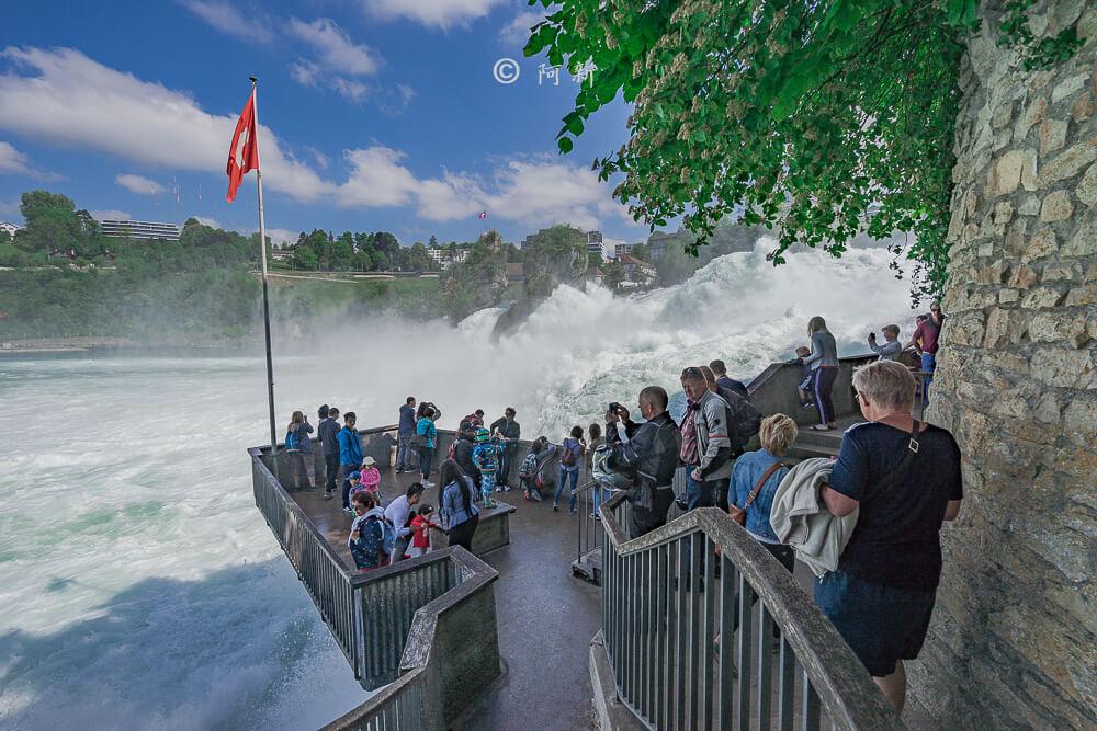 瑞士萊茵瀑布,萊茵瀑布,歐洲最大瀑布,瑞士旅遊,瑞士-25
