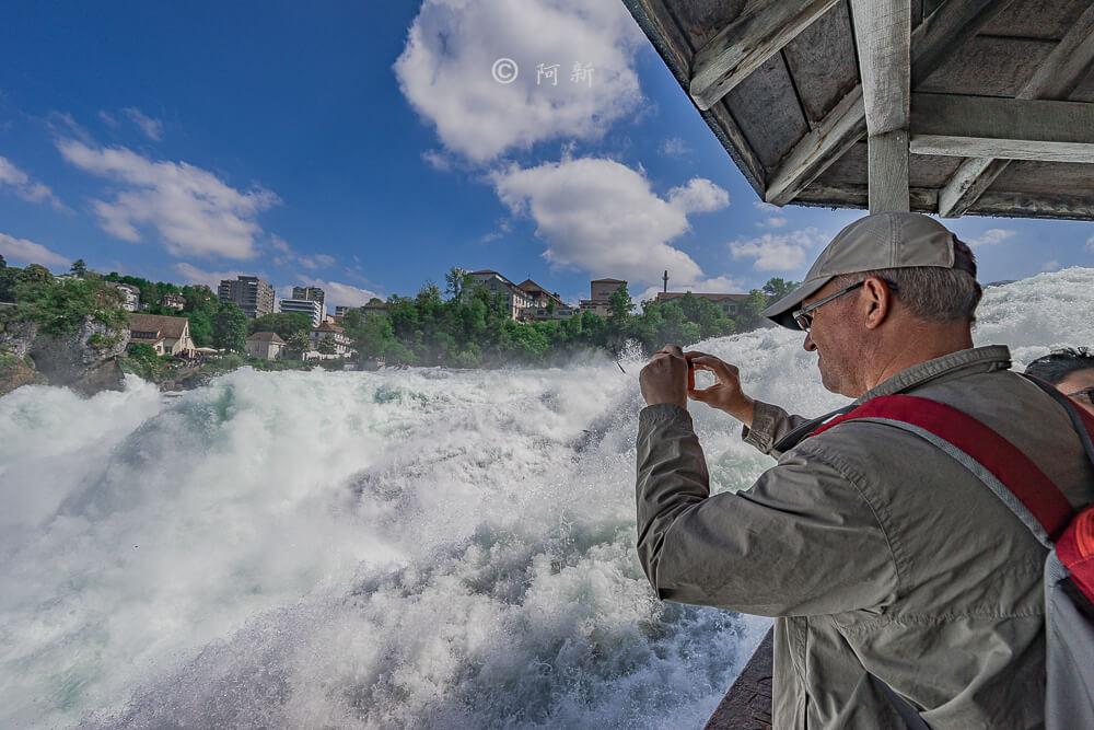 瑞士萊茵瀑布,萊茵瀑布,歐洲最大瀑布,瑞士旅遊,瑞士-33