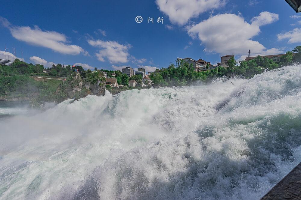 瑞士萊茵瀑布,萊茵瀑布,歐洲最大瀑布,瑞士旅遊,瑞士-34