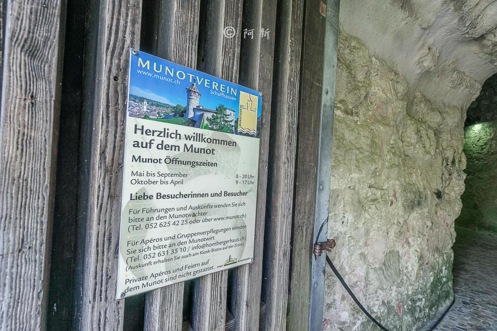 米諾要塞,沙夫豪森米諾要塞,Munot堡壘,梅諾城堡,梅諾要塞,瑞士旅遊景點-15