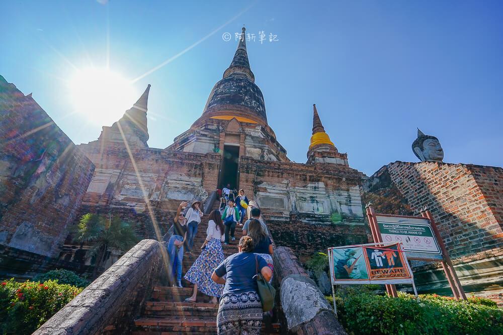 泰國崖差蒙空寺,泰國大城,大城景點,泰國旅遊