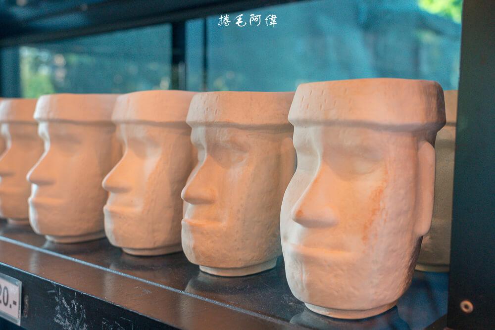 摩艾咖啡,Moai Coffee,摩艾咖啡Moai Coffee,摩艾咖啡 泰國,拉差汶里景點,叻丕府景點,摩艾石像,泰國巨石陣